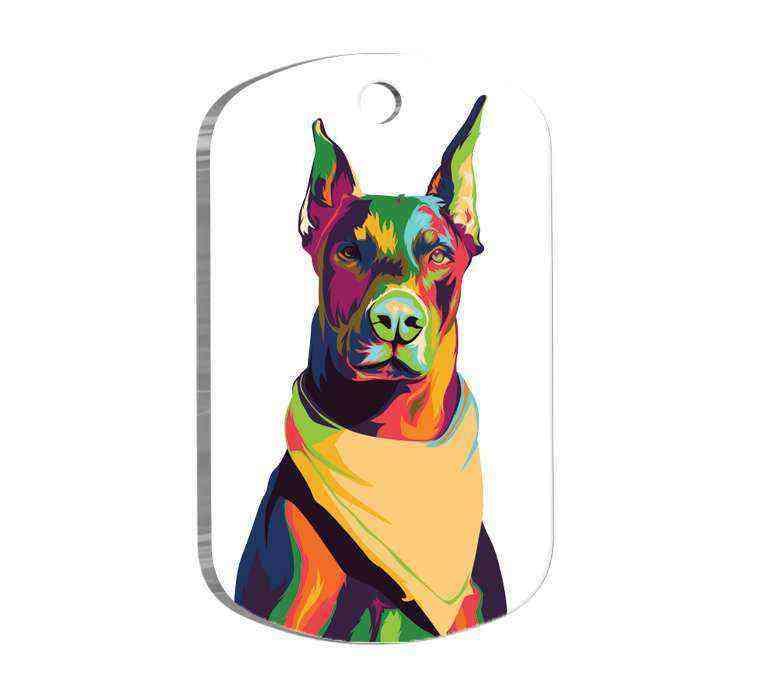 Doberman Tasarım Köpek Künyesi