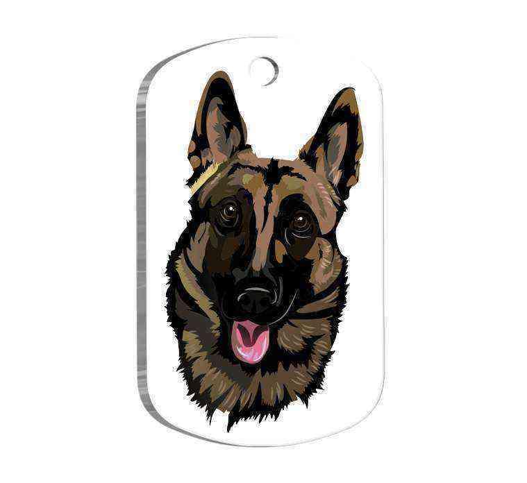 Belçika Malinois Tasarım Köpek Künyesi